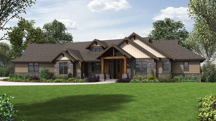 Smart and Stylish, Perfect for Busy Families. Plan 1345 The Wilson is a 3163 SqFt Craftsman, Lodge, Ranch style home plan featuring Bonus Room, Covered Patio, Den, Mud Room , Office, Outdoor Living Room, Shop, Split Bedrooms, and Walk-In Pantry by Alan Mascord Design Associates. View our entire house plan collection on Houseplans.co.