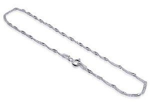 #6: Sterling Silver Anklet Singapore Chain Ankle Bracelet With Spring Ring Clasp