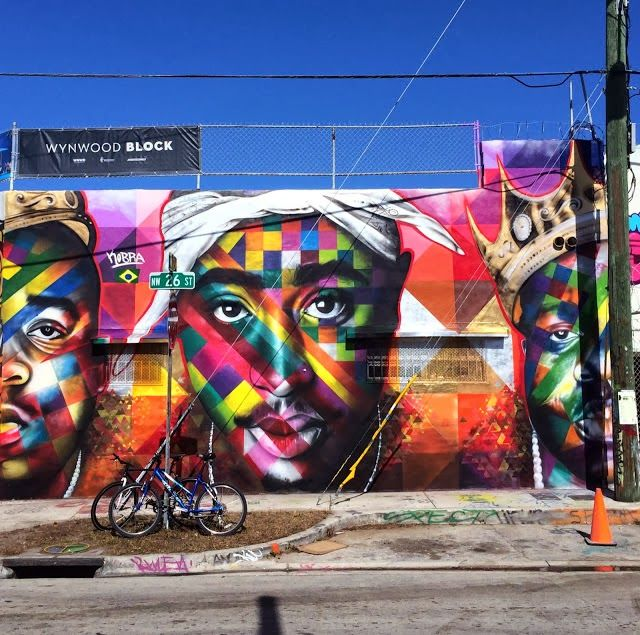 "Art Basel '13 Miami - Eduardo Kobra ""Tupac and Biggie Street Art Tribute"""