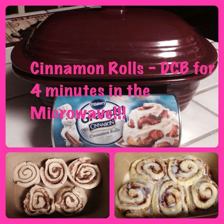 Pampered Chefs deep covered baker Microwave Cinnamon Rolls | This Works!!! Cook exactly 4 minutes. Cooking longer causes them to dry out.