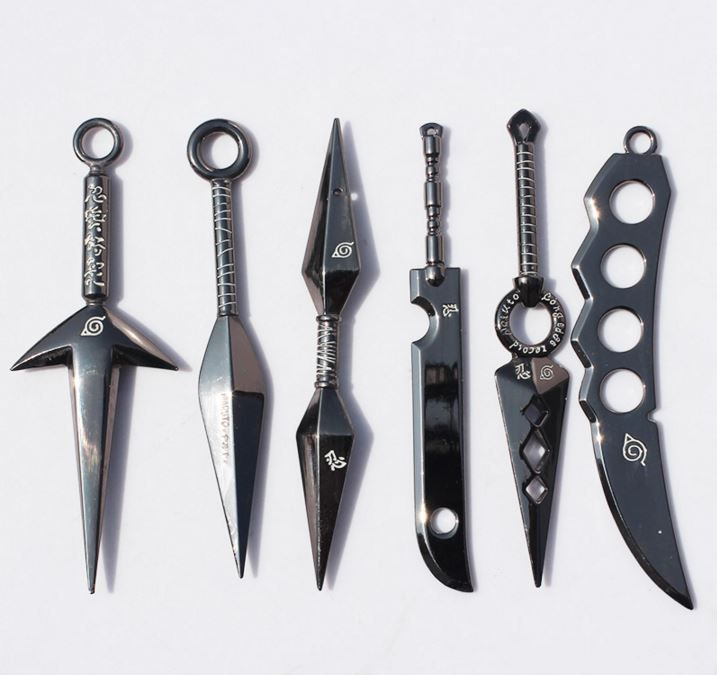 Naruto Ninja Kunai Dagger Weapons Shuriken Cosplay Set Más