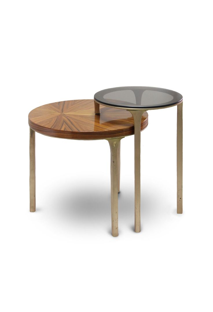 LURAY SIDE TABLE | The palisander wood veneer in the lower top is what  brings the
