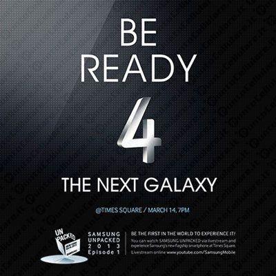 Samsung Galaxy S IV - due le versioni che saranno presentate domani