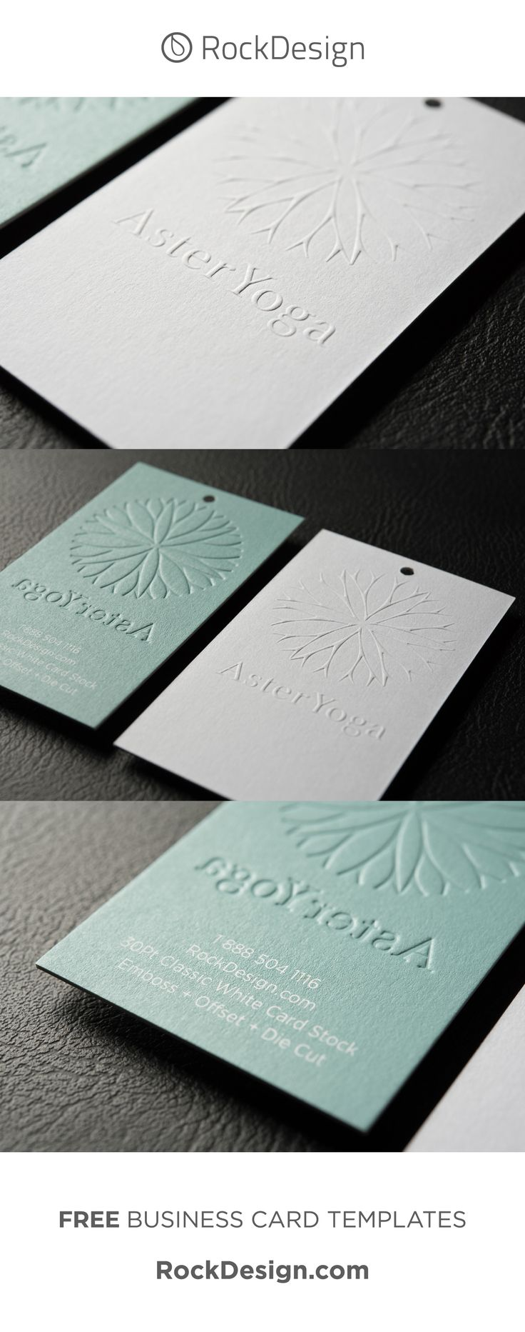 ELEGANT CLASSIC BUSINESS CARD TAG TEMPLATE WITH EMBOSS – ASTER YOGA