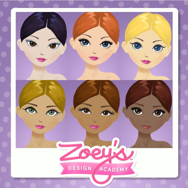 Design your look, beauty comes in all colors. Find your style at www.zoeysdesignacademy.com #Fashiongame