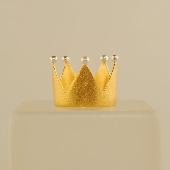 Brass Crown // Gold Plated and Silver Plated on Top by Prigkipo, €19.00