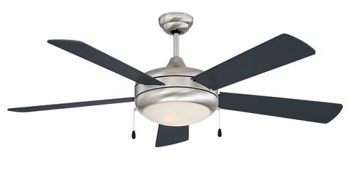 Neptune 52 Inch 5 Blade Stainless Steel Ceiling Fan with Light Kit - 52SAX5EST