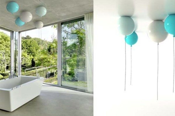 WALL AND CEILING LIGHTS DESIGNED BY BROKIS LIKE COLORFUL AIR BALLOONS