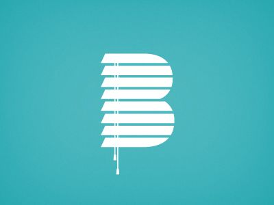 Blinds, clever logo design