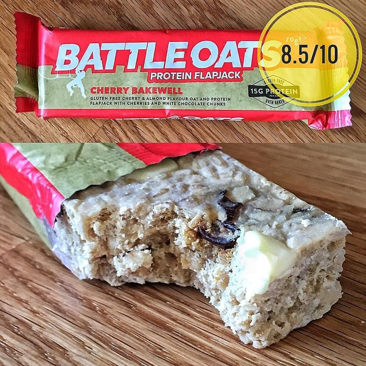 Battleoats cherry bakewell flavour.  Appearance:  pretty large at 70g these are a flapjack style bar with a pretty generous amount of large white chocolate chips and. dried cherries throughout.  Texture: Really good they have an initial crunch their crumbly and whenever you hit a cherry you get a nice chew. Really nice blend. They also dont get overly dry like a lot of flapjacks.  Taste: Also good. The bar itself has a smooth buttery taste similar to a good flapjack the cherries are spot on…