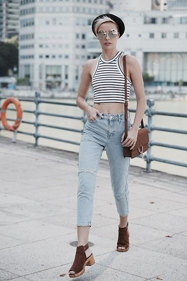 Get this look: http://lb.nu/look/8160911  More looks by Katya Shay: http://lb.nu/katyashay  Items in this look:  Topshop Crop Top, Topshop Mom Jeans, Forever 21 Cross Shoulder Bag, Topshop Shoes   #casual #minimal #street #newpost #streetstyle #singapore #swag #look #momjeans
