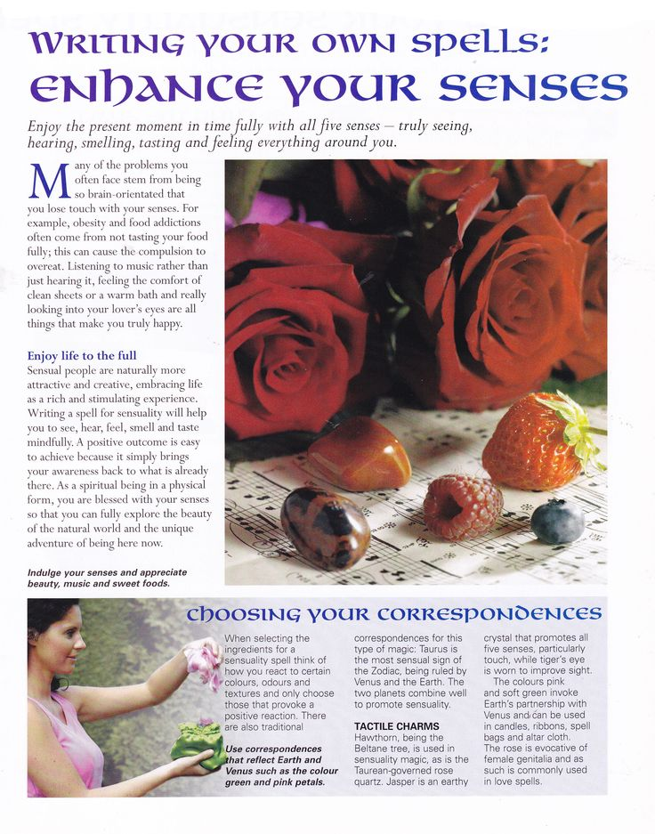 Writing your own spells  Enhance your senses