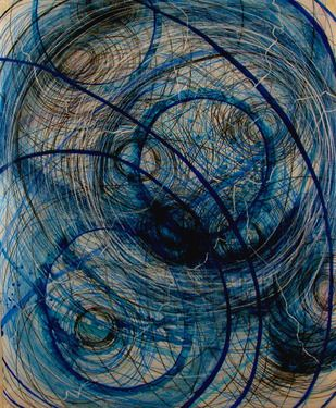 """Saatchi Online Artist Dianne Bowen; Drawing, """"Listening To The Blues In A Hurricane"""" #art"""