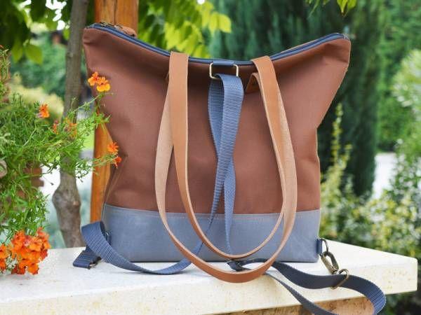 Handmade Waterproof Canvas Backpack - Camel Design