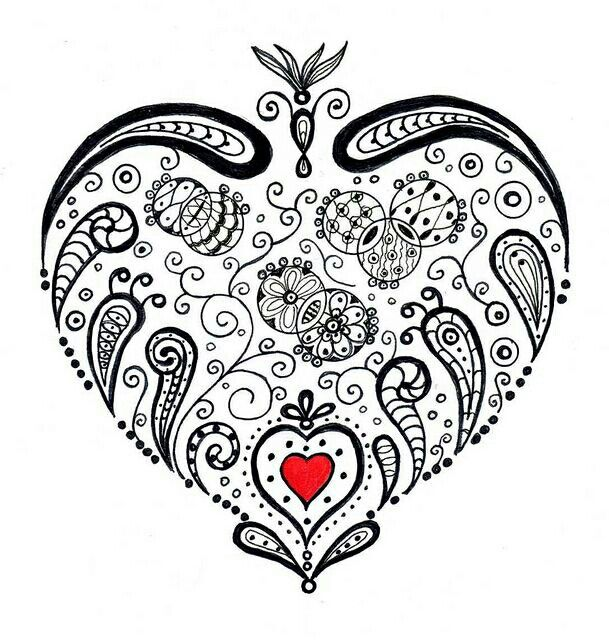 doodle heart coloring page 135 best images about hearts coloring pages for 4277