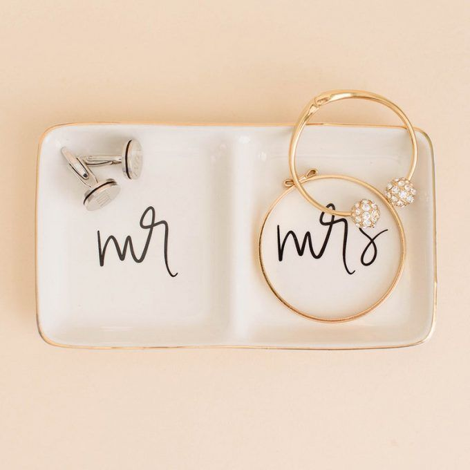 The 20 Most Thoughtful Wedding Gifts Under 20 Giveaway In 2020 Jewelry Dish Mrs Ring Thoughtful Wedding Gifts