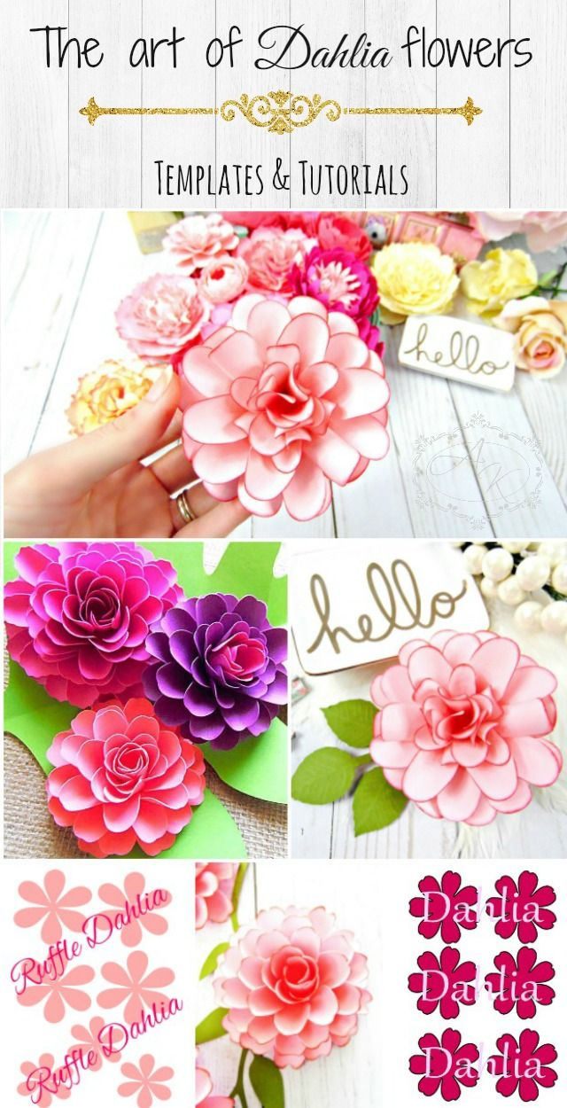 How to make beautiful paper dahlias diy crafts tutorial - How To Make Paper Dahlias Step By Step Paper Flower Tutorials And Templates