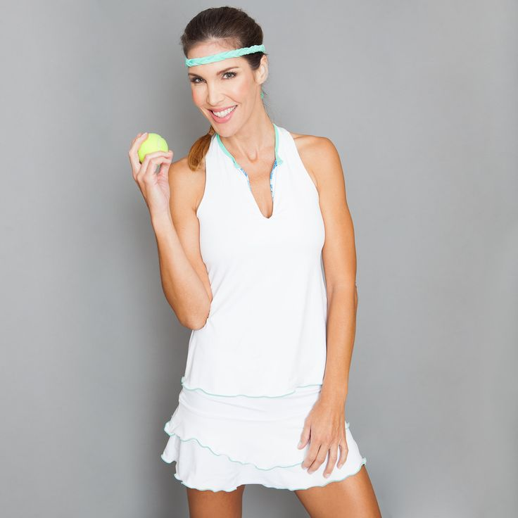 Racer-back Top by Denise Cronwall, Denise Cronwall Activewear Riviera Collection, #activewear, #tennis, #fitness, #workout, #apparel, #style, #fashion, #unique, #boutique, #training, #pants, #bra, #top, #designer, #skort, #skirt, #geocollection, #athleisure, #short