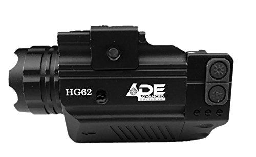 Ade Advanced Optics HG62 Crusader Series Compact Green Laser with 300 lm Strobe Flashlight Sight Black * Click image for more details.
