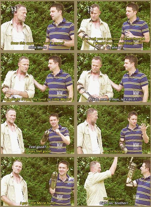Merle Dixon - Michael Rooker & Chris Hardwick (Talking Dead)