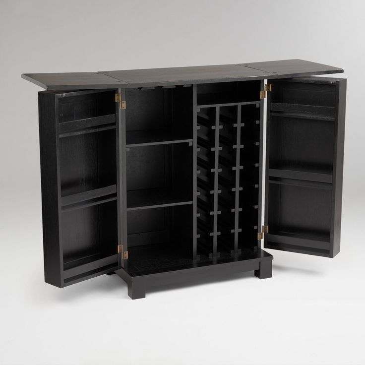 antique black verona bar liquor cabinethome