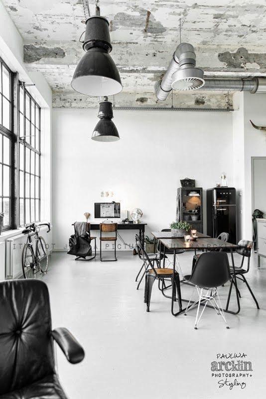 Ideas for your dreamy industrial loft design