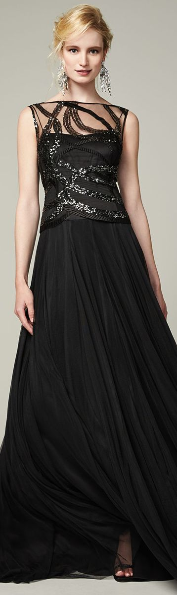 Kay Unger ● New York Sequined-Bodice Gown