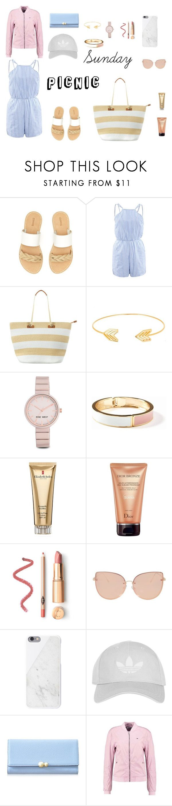 """""""Sunday Picnic Outfit"""" by annaschaf on Polyvore featuring Soludos, WithChic, Phase Eight, Lord & Taylor, Nine West, Old Navy, Elizabeth Arden, Christian Dior, Topshop and Native Union"""