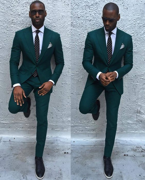 Very few man look ggreat with this dark green color suit ⋆ Men's Fashion Blog - #TheUnstitchd