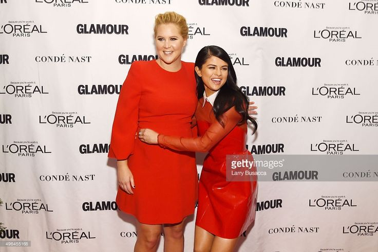 Comedian Amy Schumer (L) and recording artist Selena Gomez attend 2015 Glamour Women Of The Year Awards at Carnegie Hall on November 9, 2015 in New York City.  (Photo by Larry Busacca/Getty Images for Glamour)