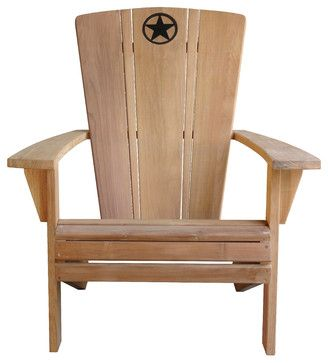 Set of 2, Lone Star Adirondack Chairs contemporary-outdoor-chairs