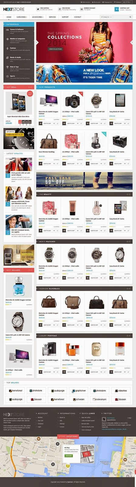 Venus Next Store is a Responsive Magento Template suitable for any kind of Fashion Shop, Hightech Store, Gift Shop, Electronics shop and all kinds of marketplace business that needs a feature rich and beautiful presence online. #eCommerce #webdesign
