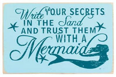 Write your secrets in the sand and trust them with a mermaid $11.95