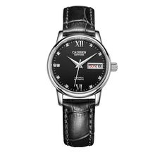 CADISEN famous Brand mechanical watch font b diving b font Women casual watches fashion Leather strap