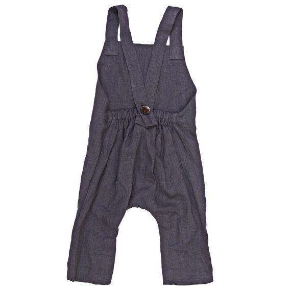Harems Hose für Mädchen unsere Knaben-Garderobe. Aus weich gewaschenem Leinen hergestellt. Schlicht und elegant. Strampler im Rücken haben Holz