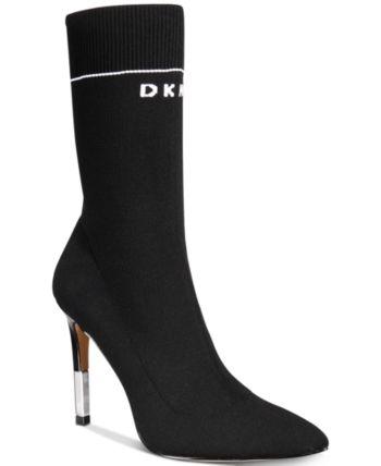 54540ca6c496 Dkny Women's Robbi Sock Booties, Created for Macy's - Black ...