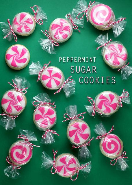 Peppermint Sugar Cookies #desserts