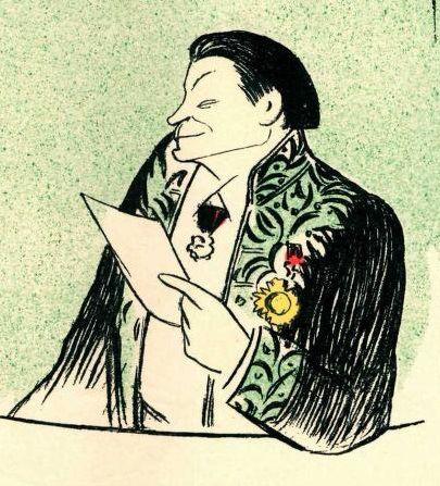 François Coppée (dessin de Cappiello)
