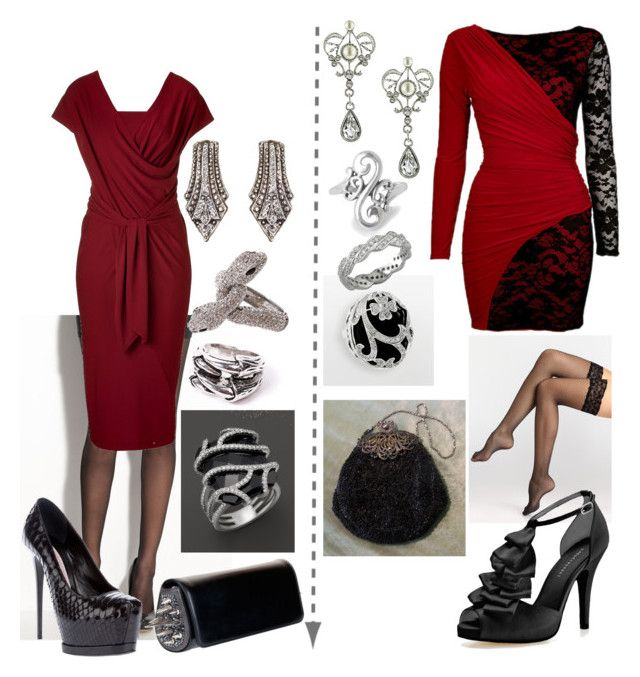 TW evening SD and TR by skugge on Polyvore featuring polyvore fashion style Donna Karan Commando Wolford Audrey Brooke Gianmarco Lorenzi Christian Louboutin Bloomingdale's Yochi 1928 Punkt. clothing