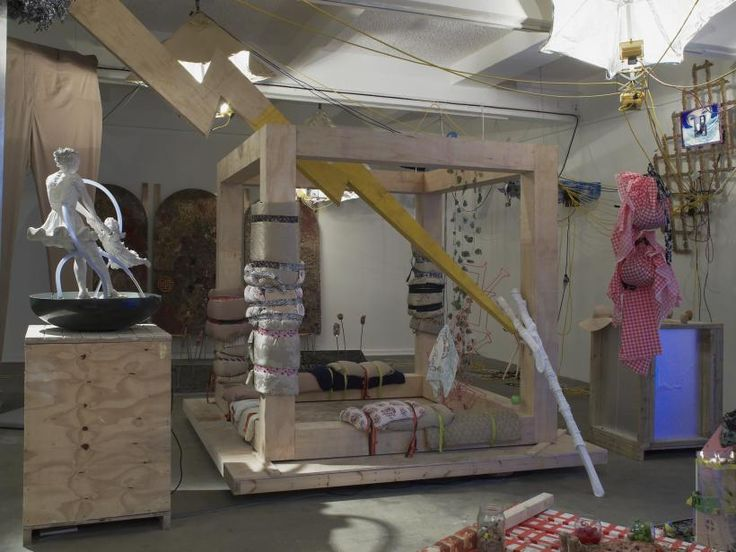 Ed Fornieles, 'Modern Family' (2014), installation view. Commissioned by Chisenhale Gallery.