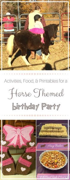 Does Your Little Horse Lover Have A Birthday Coming Up Try These Ideas For Activities