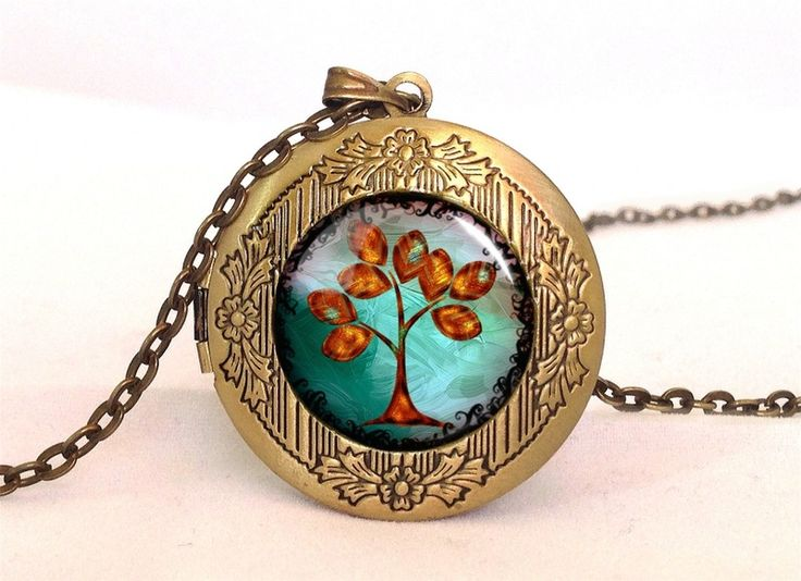 Golden Tree Locket, 0602LPB from EgginEgg by DaWanda.com