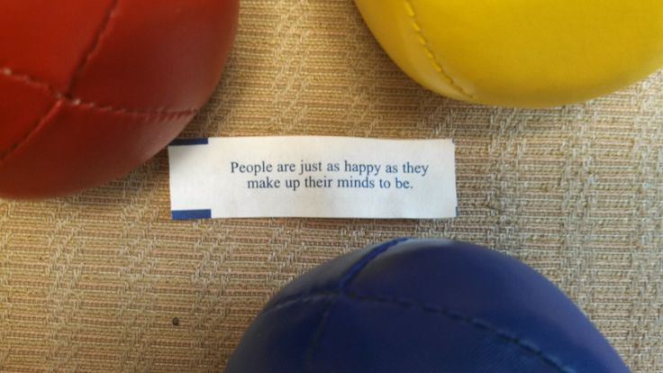Yesterday I spoke to 300 secretaries about happiness and today a fortune cookie spoke to me about the same.