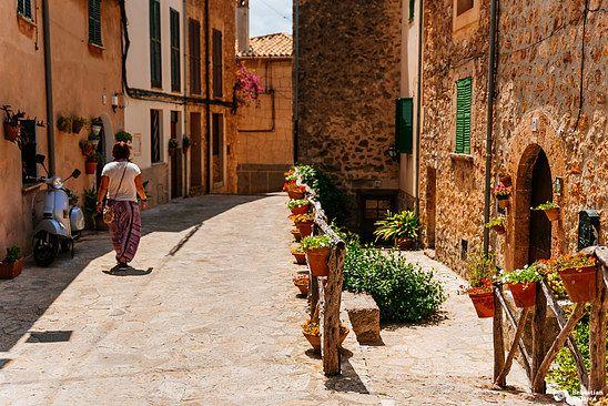 The streets of Valldemossa, Mallorca
