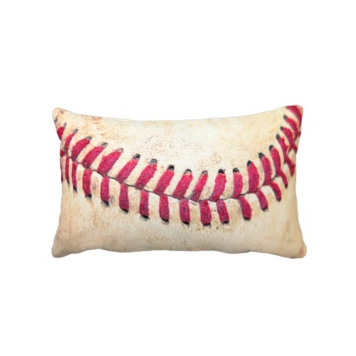 Vintage Baseball Red Stitches Close Up Photo Pillow