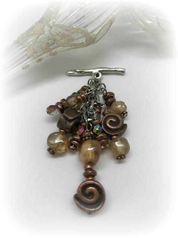 Interchangeable Greek Copper and Glass Beaded Necklace – Bead Dangle Design