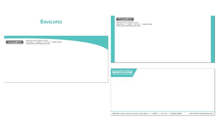 Brand Identity - Sapphire Mobiles  Envelopes