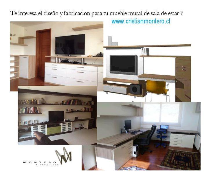 Quieres muebles murales para tu sala de estar ?   en:  www.cristianmontero.cl
