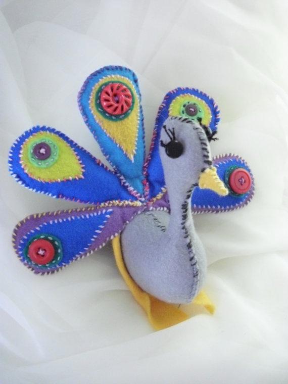 Felt Peacock