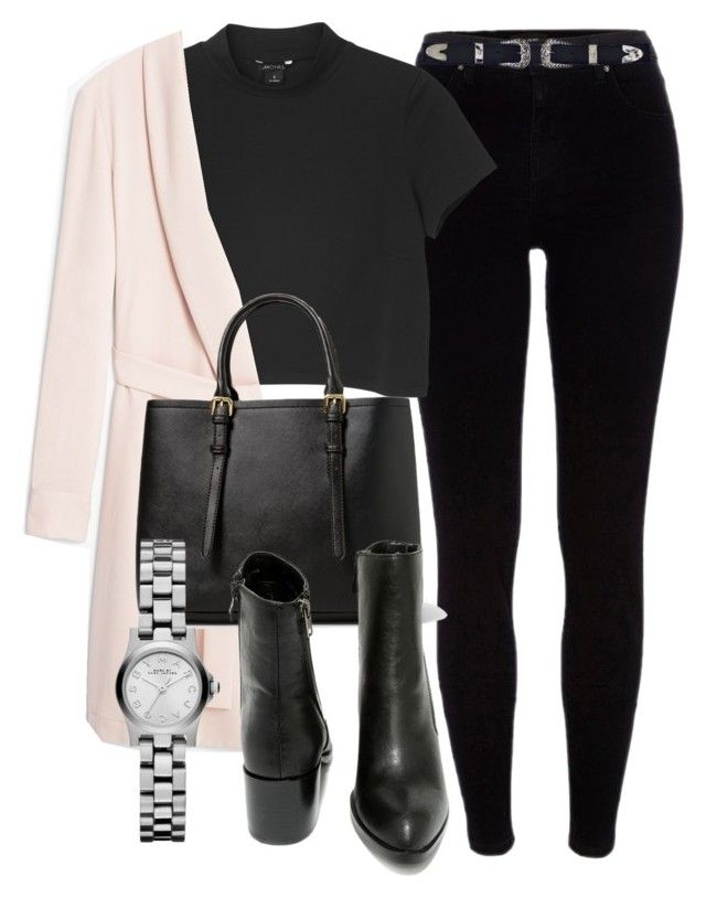 """""""Untitled #4913"""" by laurenmboot ❤ liked on Polyvore featuring River Island, Monki, MANGO and Marc by Marc Jacobs"""